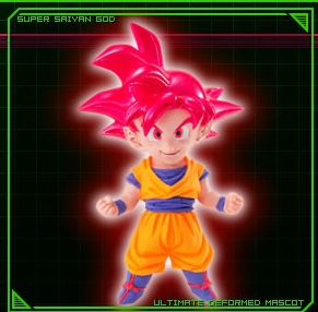 super deformed super saiyan god goku